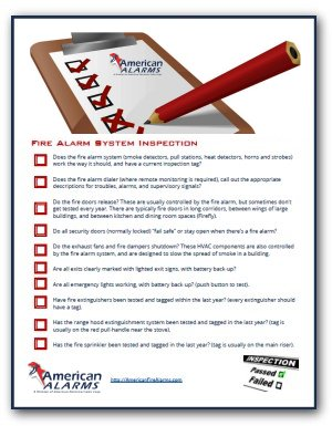 Fire Safety Inspection Checklist